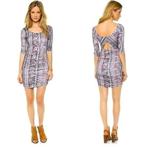 FREE PEOPLE Jasmine Ruched Bodycon Jersey Dress M
